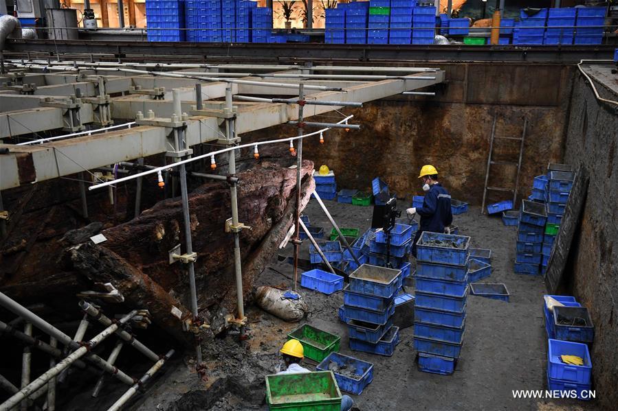 """توقعات بإنجاز أعمال التنقيب الأثري للسفينة """"نانهاي رقم 1"""" في عام 2021"""