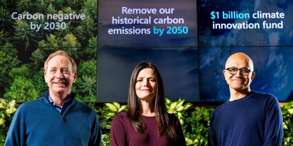 شركة مايكروسوفت تتعهد بتقليل انبعاثات الكربون بحلول عام 2030