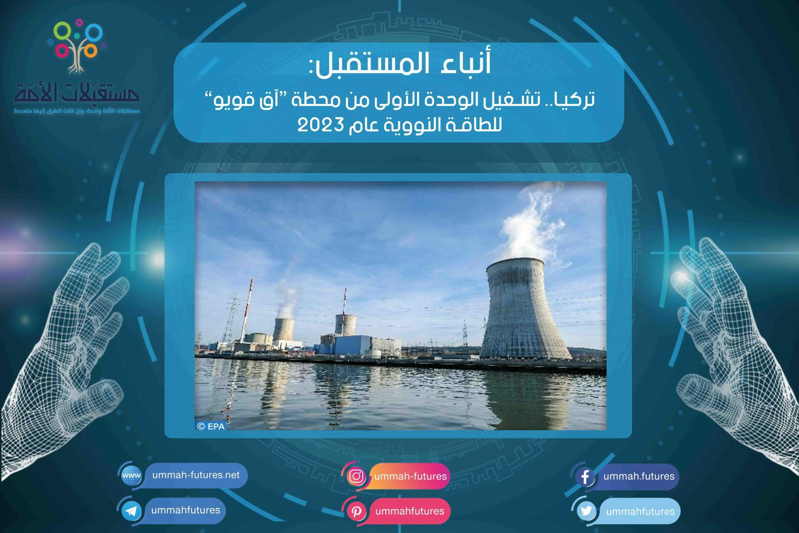 """تركيا.. تشغيل الوحدة الأولى من محطة """"آق قويو"""" للطاقة النووية عام 2023"""